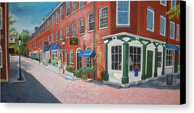 Mcgrath Canvas Print featuring the painting Newburyport Ma by Leslie Alfred McGrath