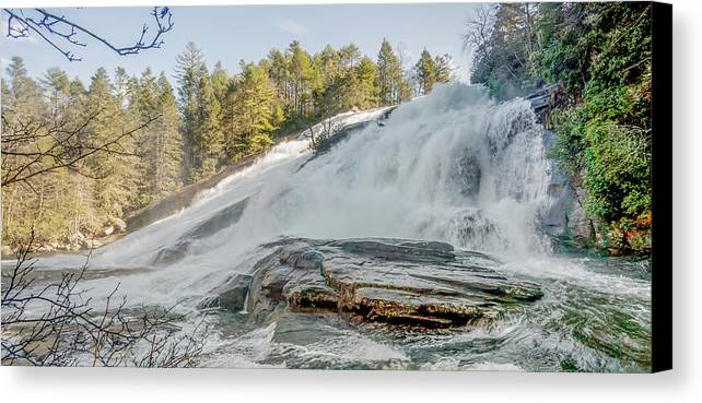 Beautiful Canvas Print featuring the photograph North Carolina - Dupont State Forest - Waterfall Collection by Ryan Kelehar