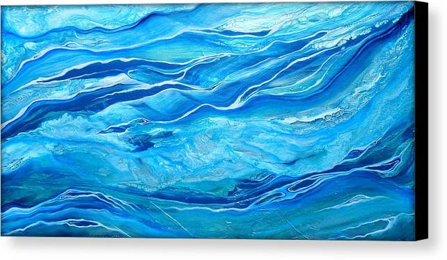 Contemporary Water Canvas Print featuring the painting Oceana by Halcyon Fineart