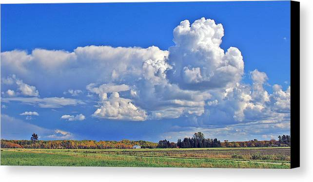 Landscape Canvas Print featuring the photograph September Clouds by Bill Morgenstern