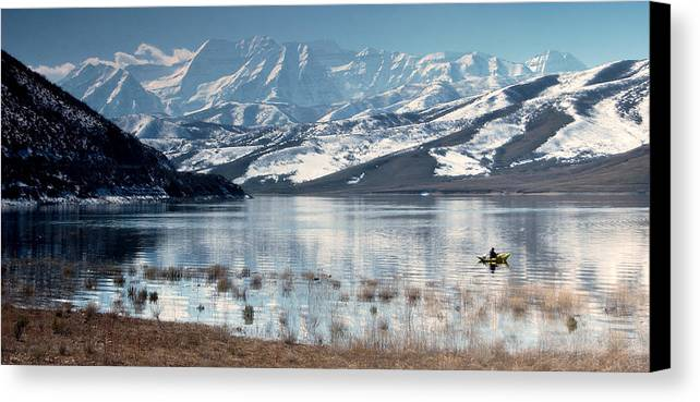 Landscape Canvas Print featuring the photograph Serene Paddling by Scott Sawyer