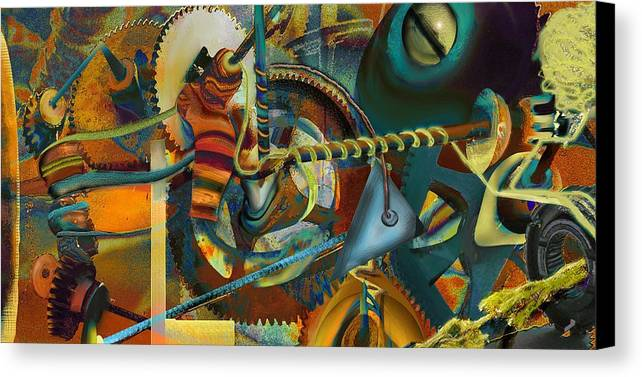 Science Canvas Print featuring the painting Tensile Test Of The Thread Of Patience by Anne Weirich
