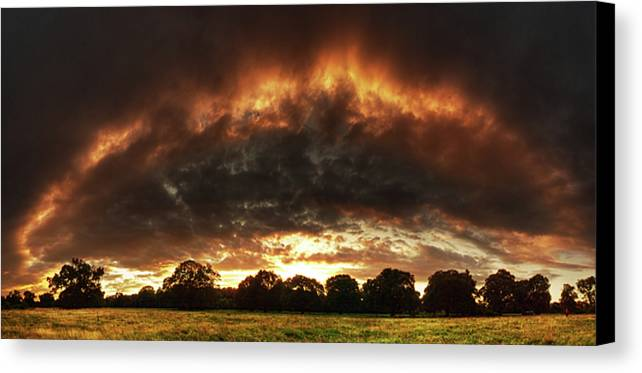 Hdr Canvas Print featuring the photograph The Fire Arch by Zsolt Zsigmond