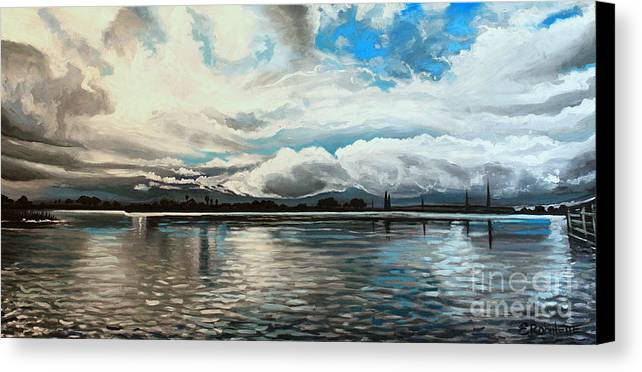 Landscape Canvas Print featuring the painting The Panoramic Painting by Elizabeth Robinette Tyndall