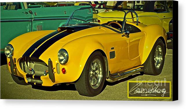 Cobra Canvas Print featuring the photograph Yellow Cobra by Gwyn Newcombe