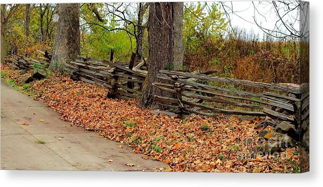 Fence Canvas Print featuring the photograph Old Wooden Fence by Patti Smith