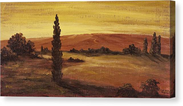 Landscape Canvas Print featuring the painting Autumn Glow by Darice Machel McGuire