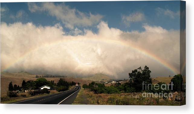 Fine Art Photography Canvas Print featuring the photograph On The Road To Hilo by Patricia Griffin Brett