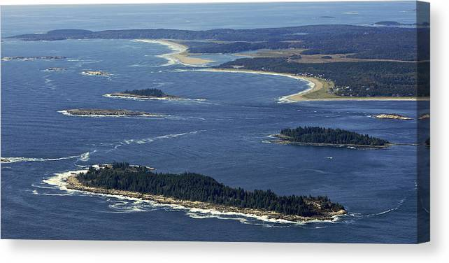 America Canvas Print featuring the photograph Salter, Stage And Pond Islands At The by Dave Cleaveland