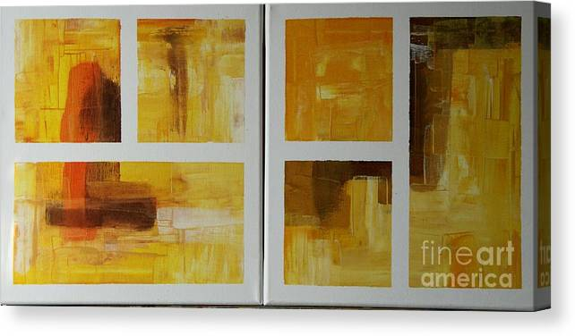 Diptych Canvas Print featuring the painting Window With View Vi by Christiane Schulze Art And Photography