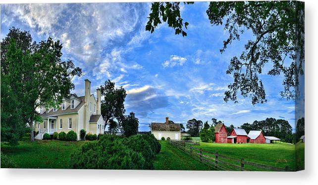 Smithfield Canvas Print featuring the photograph Windsor Castle Smithfield Va by Williams-Cairns Photography LLC