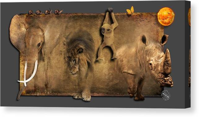 Imia Design Canvas Print featuring the digital art Africa No 02 by Maria Astedt