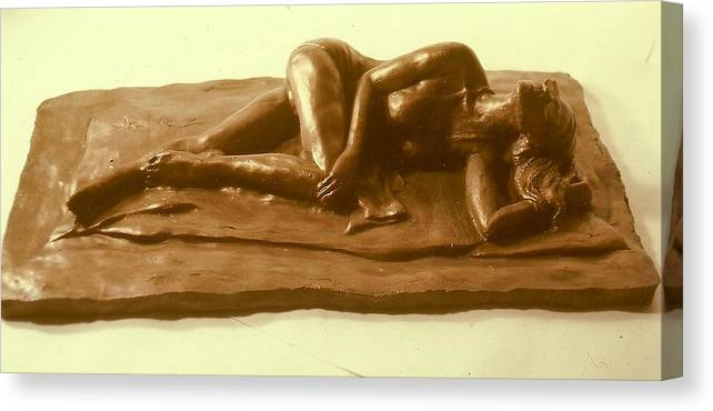 Realism Canvas Print featuring the sculpture Bikini Babe by Harry Weisburd