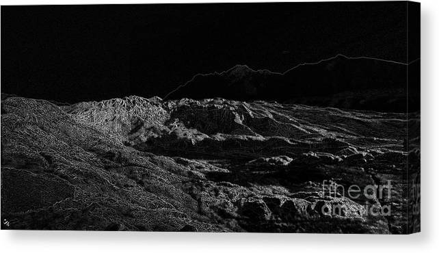 Black Ice Canvas Print featuring the photograph Black Ice by Ron Bissett
