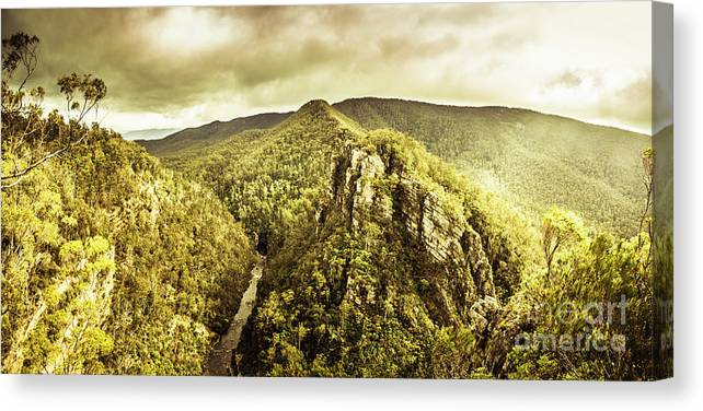 Landscape Canvas Print featuring the photograph Cliffs, Steams And Valleys by Jorgo Photography - Wall Art Gallery