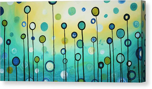 Abstract Canvas Print featuring the painting Lollipop Field By Madart by Megan Duncanson