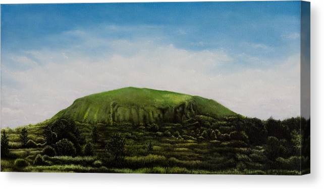 Landscape Canvas Print featuring the painting Mount Coolum by Joe Michelli