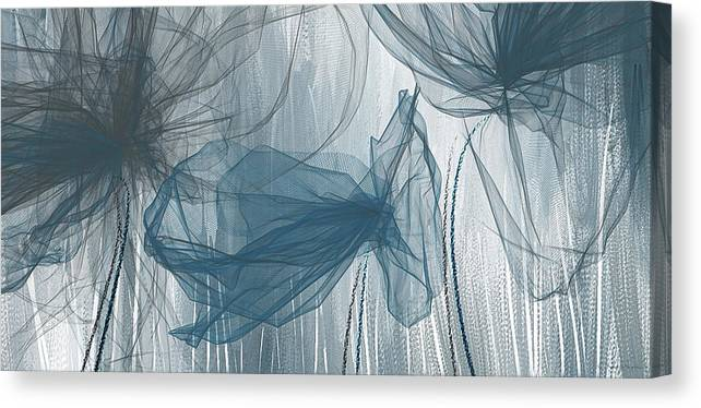 9a78a31c361 Light Blue Canvas Print featuring the painting Navy And Gray Abstract - Navy  Blue And Gray