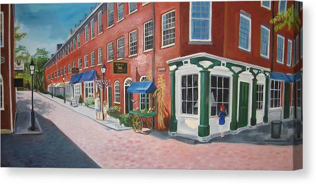 Mcgrath Canvas Print featuring the painting Newburyport Ma by Leslie Alfred McGrath