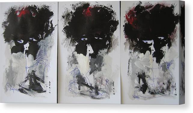 Original Canvas Print featuring the painting Other Than 3 by Seon-Jeong Kim