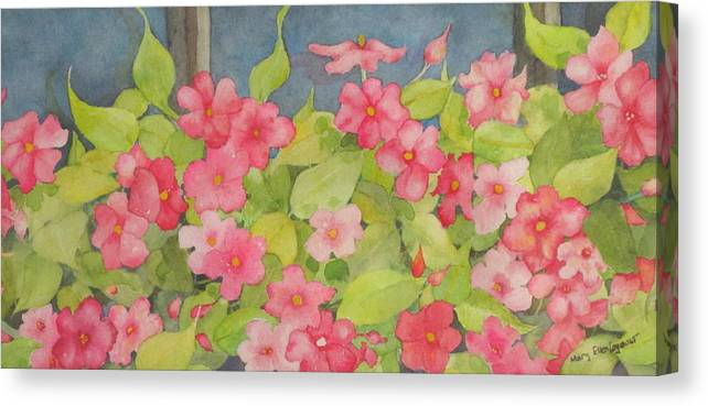 Flowers Canvas Print featuring the painting Perky by Mary Ellen Mueller Legault
