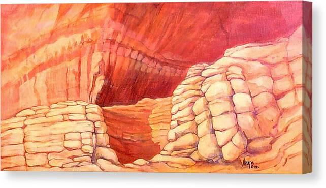Landscape Canvas Print featuring the painting Sanctuary by Nancy Matus