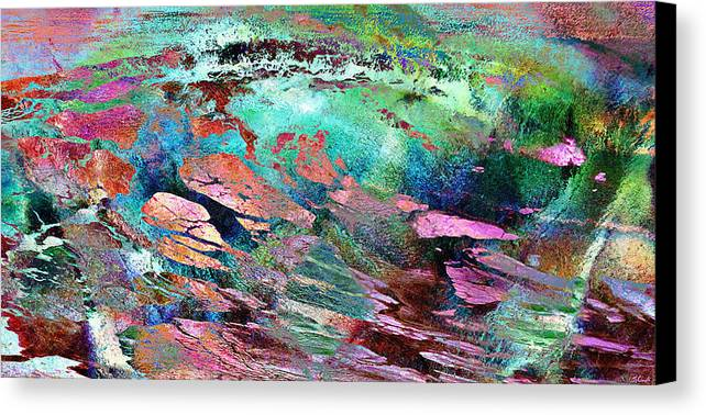 Large Abstract Canvas Print featuring the mixed media Guided By Intuition - Abstract Art by Jaison Cianelli