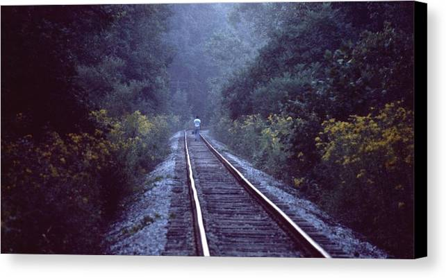 Walking Canvas Print featuring the photograph Solitude 031307-66 by Mike Davis