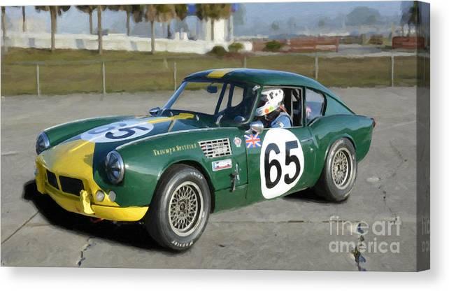1965 Triumph Spitfire Sebring Canvas Print Canvas Art By Tad Gage
