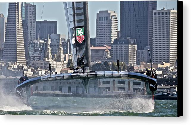 Sloop Canvas Print featuring the photograph Great Day by Steven Lapkin