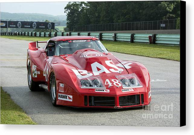 Automobile Canvas Print featuring the photograph 1972 Chevy Corvette At Road America by Tad Gage
