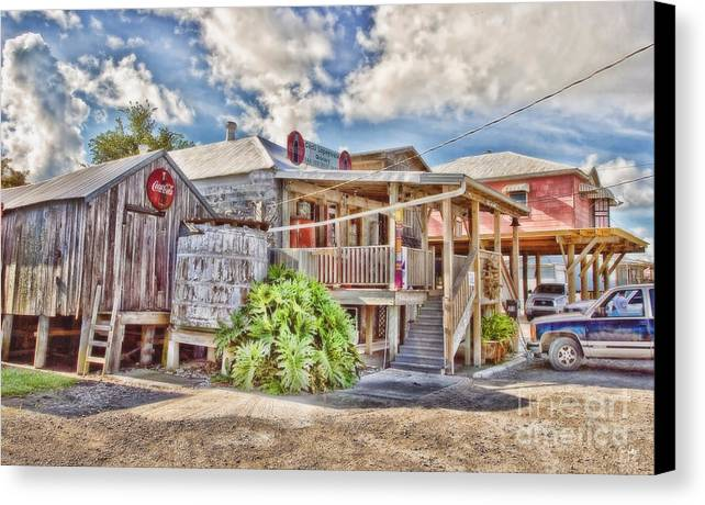 Grocery Store Canvas Print featuring the photograph Cecil's Grocery by Scott Pellegrin