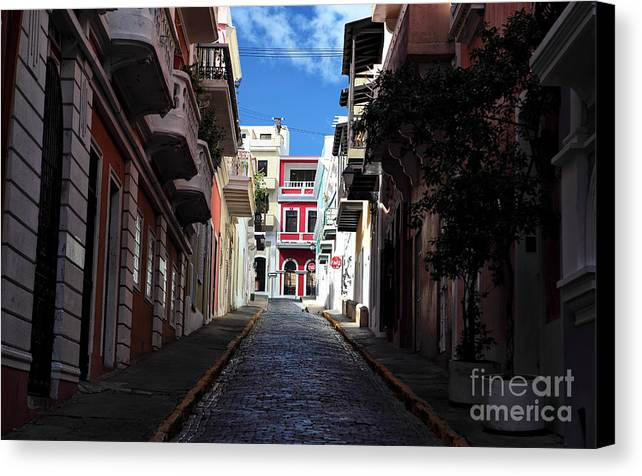 San Juan Alley Canvas Print featuring the photograph San Juan Alley by John Rizzuto
