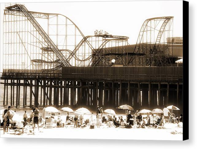 Coaster Ride Canvas Print featuring the photograph Coaster Ride by John Rizzuto