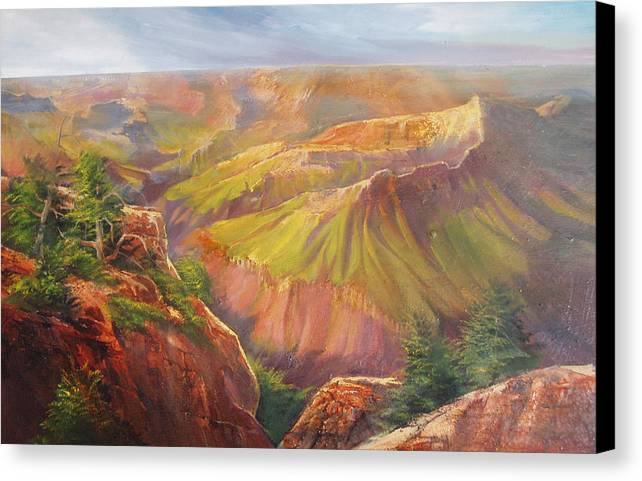 Grand Canyon Canvas Print featuring the painting Grand Canyon by Robert Carver