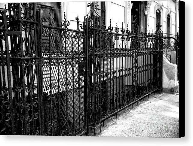 Wrought Iron In Greenwich Village Canvas Print featuring the photograph Wrought Iron In Greenwich Village by John Rizzuto