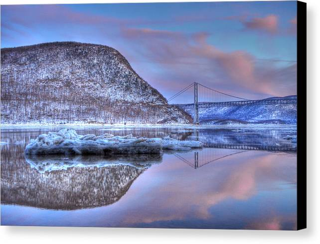 Canvas Print featuring the photograph Frozen Mirror by Will Cook