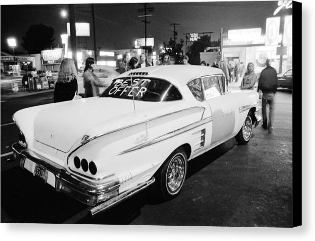 58 Chevy Canvas Print featuring the photograph Vn Blvd.-087-28a Best Offer by Richard McCloskey