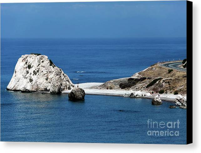 Rock Canvas Print featuring the photograph Birth Place Of Aphrodite by John Rizzuto