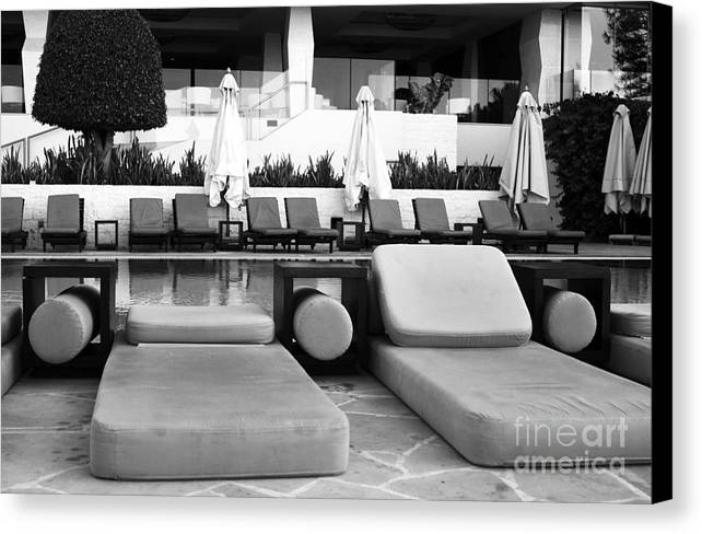 Pool Life Canvas Print featuring the photograph Pool Life by John Rizzuto
