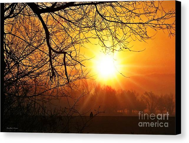 Kansas Canvas Print featuring the photograph Serenity Dawns by Concolleen's Visions Smith