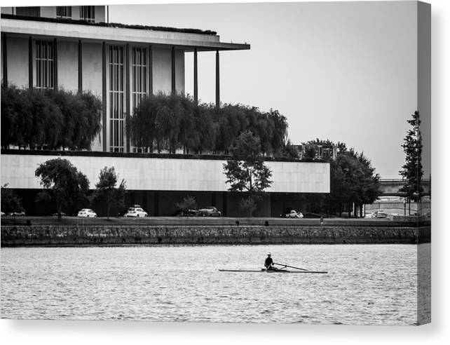 John F. Kennedy Center Canvas Print featuring the photograph The Rower by Alex Banakas