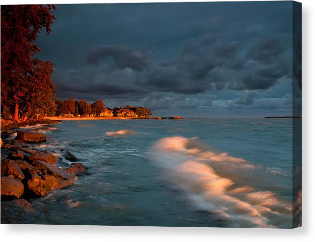 2x3 Canvas Print featuring the photograph At Sun's First Break by At Lands End Photography