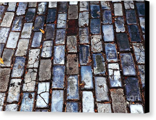 Brick Street Canvas Print featuring the photograph Brick Street by John Rizzuto