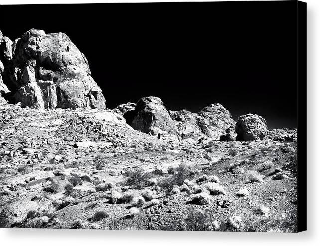 Desert Formation Canvas Print featuring the photograph Desert Formation by John Rizzuto