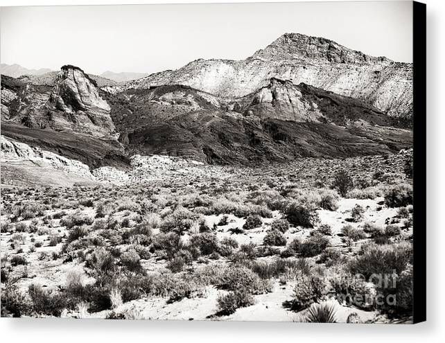 Desert Peaks Canvas Print featuring the photograph Desert Peaks by John Rizzuto