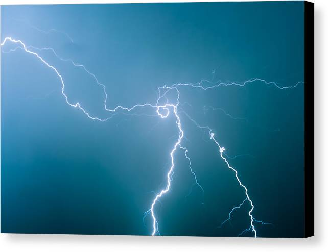 Summer Canvas Print featuring the photograph High Voltage by Vadim Grabbe