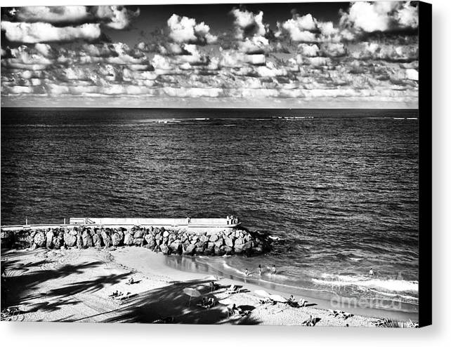 Looking Out Into The Ocean Canvas Print featuring the photograph Looking Out Into The Ocean by John Rizzuto