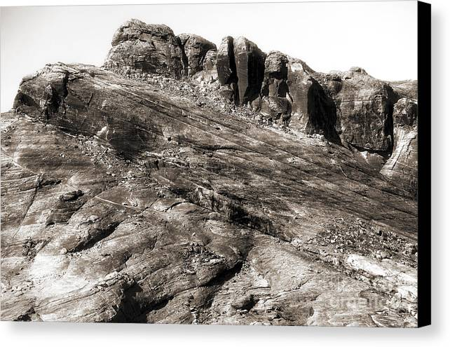 Rock Details Canvas Print featuring the photograph Rock Details by John Rizzuto