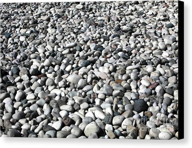 Rocks Of The Greek Canvas Print featuring the photograph Rocks Of The Greek by John Rizzuto